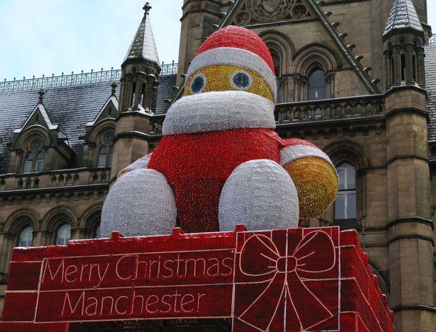Manchesterissä laskeudutaan jouluun kansainvälisen markkinamenon voimin.
