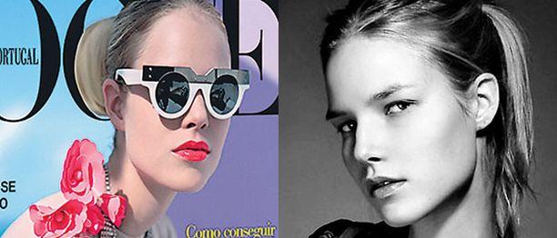 KANSIKUVA Suvi poseeraa Portugalin Voguen maaliskuun kannessa. Sisäsivuilla hän esittelee rantamuotia.