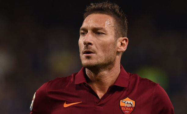Francesco Totti (kuvassa) teki pilaa Cristiano Ronaldosta.