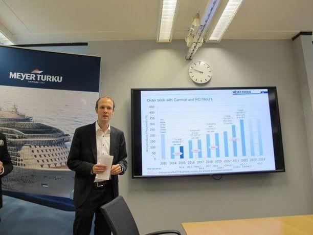 Meyer Turun telakan toimitusjohtaja Jan Meyer kertoi tiistaina, että telakan huolellisesti aikataulutettu tilauskanta lupaa myös alihankintaketjulle ennennäkemätöntä jatkuvuutta.