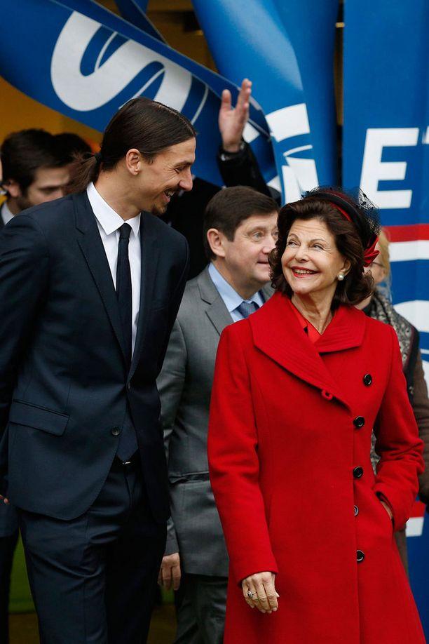 Vielä Zlatanin tavatessaan Silvia edusti säteilevänä.