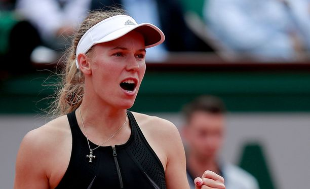 Caroline Wozniacki taistelee Ranskan avointen voitosta.