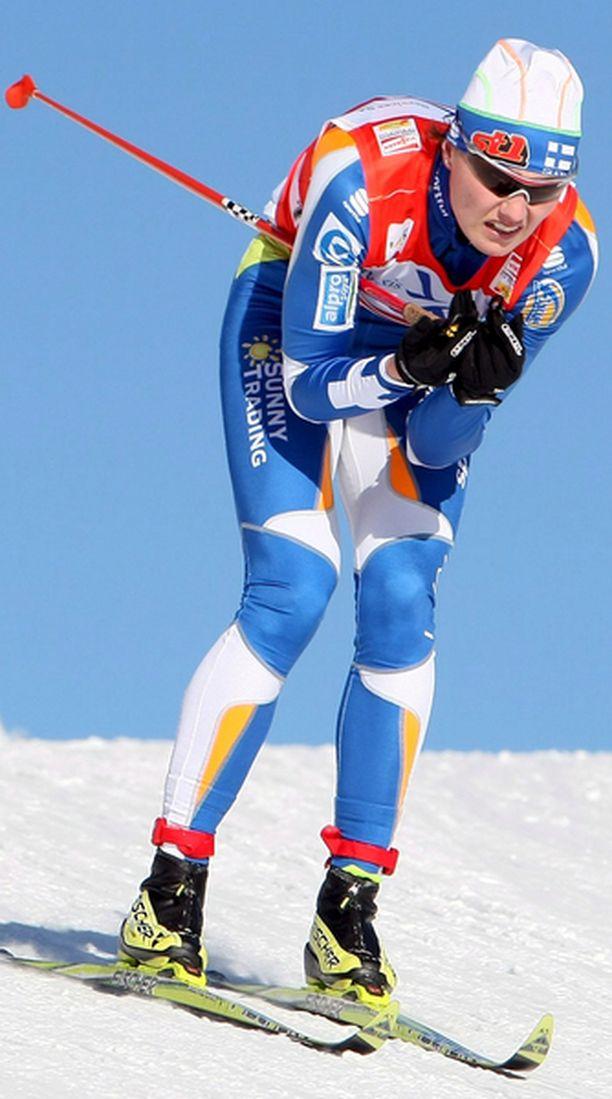 Pirjo Muranen oli tyytyväinen Tour de Ski-avaukseensa.