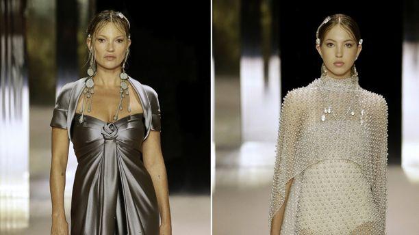 Kate Moss ja hänen tyttärensä näyttäytyivät vastikään samalla catwalkilla.