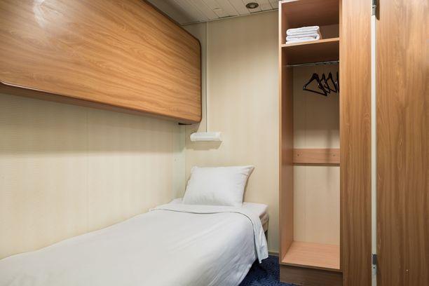 Kakkoskannella sijaitseva ikkunaton C-hytti on Silja Serenaden pienin ja edullisin vaihtoehto.
