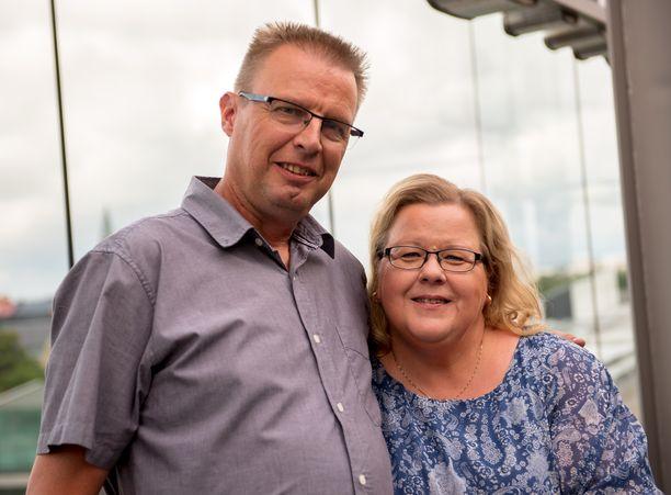 Markku Saukko ja Anne-vaimo ovat olleet naimisissa vuodesta 2014.