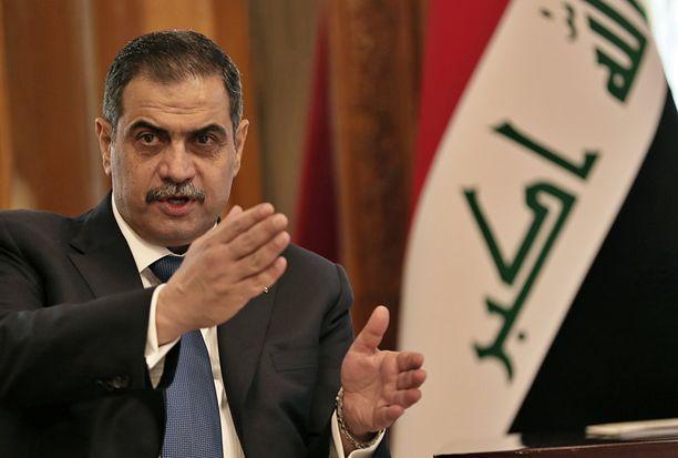 Irakin puolustusministeri Najah al-Shammari on tutkinnan alla Ruotsissa.