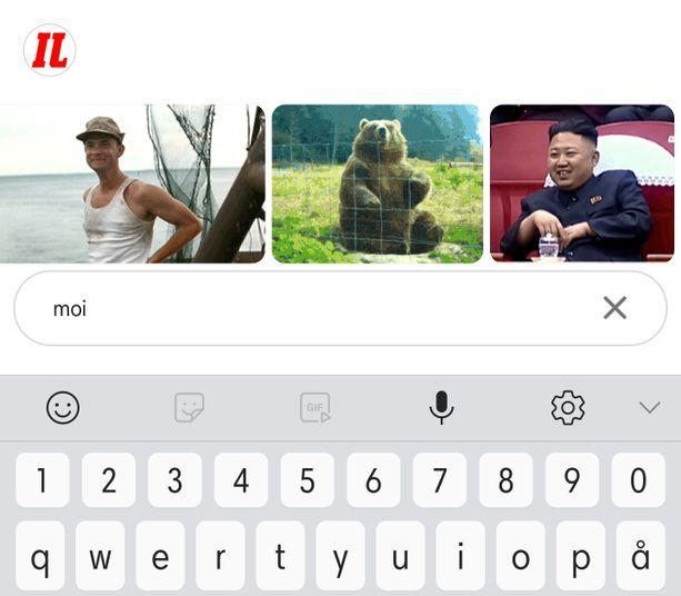 GIFit löytyvät Direct-viesteistä.