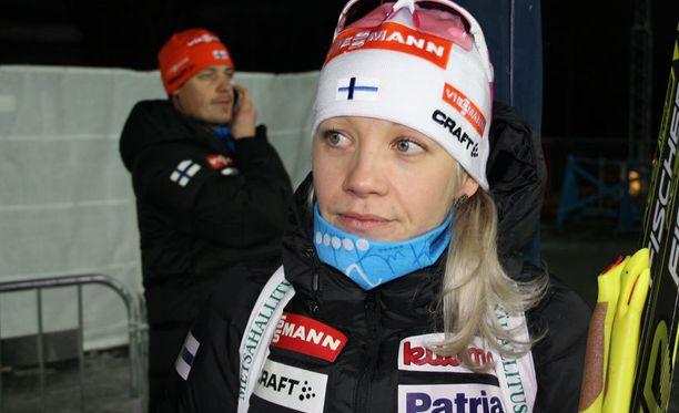 Kaisa Mäkäräinen oli jälleen median mielenkiinnon kohteena Östersundissa.