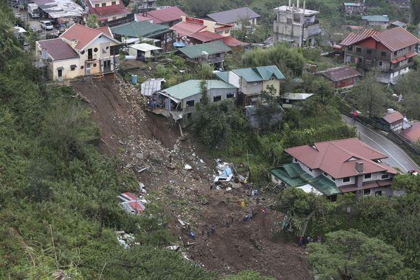 Maanvyörymät tekivät pahaa jälkeä Filippiineillä.