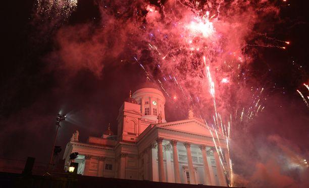 Uudenvuoden juhlallisuuksia Helsingissä viime vuonna.