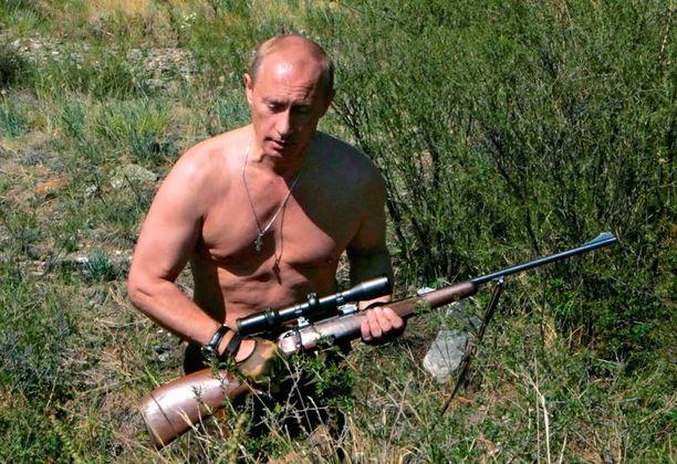 Presidentti Putin on luonut tietoisesti kuvaa itsestään machomiehenä.