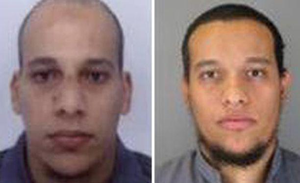 VELJEKSET Cherif (vas.) ja Said Kouachin epäillään surmanneen 12 ihmistä keskiviikkona Pariisissa.