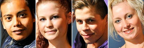Sam, Mia-Mari, Markku ja Taru taistelevat ensi viikolla Dancen voitosta.