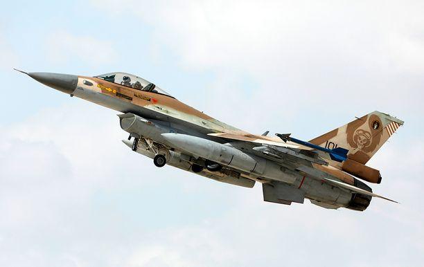 Israelin armeijan F-16-hävittäjä. Arkistokuva marraskuulta.