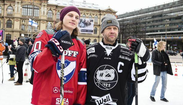 HIFK:n Roope Hintz ja TPS:n Tomi Kallio lukeutuivat runkosarjassa joukkueidensa kovimpiin pistemiehiin.