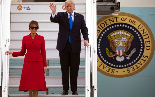 Presidenttiparin vierailu kestää vuorokauden.