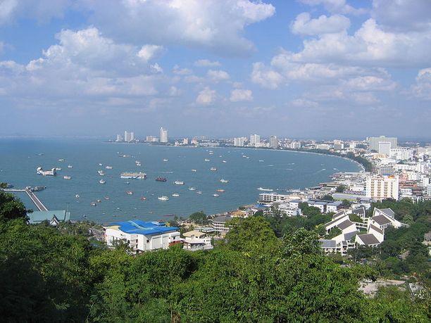 Mies löytyi läheltä Pattayan lomakohdetta.