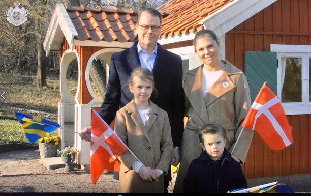Ruotsin kuninkaalliset yhteiskuvassa keväällä 2020.