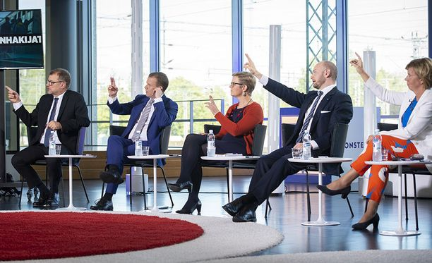 Puolueiden puheenjohtajat kohtasivat Alma Median tentissä syyskuussa. Tuolloin vihreitä edusti eduskuntaryhmän puheenjohtaja Krista Mikkonen, mutta nyt ruorissa on uusi puheenjohtaja Pekka Haavisto.