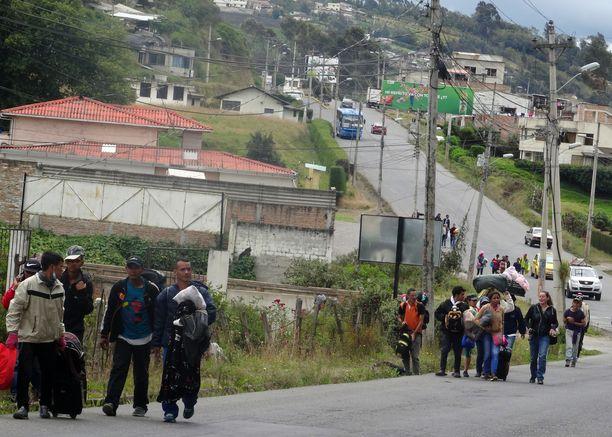 Venezuelalaiset ovat paenneet maansa kaaosta naapurimaihin.