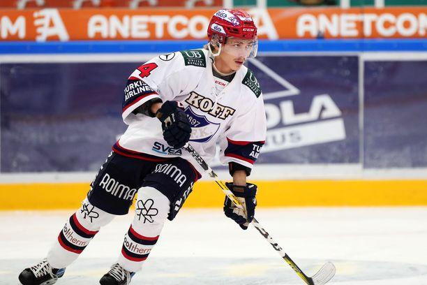 Iikka Kangasniemi oli pelipäällä Kuopiossa.