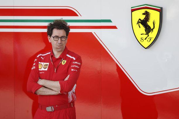 Mattia Binotto on maanantaista lähtien toiminut Ferrarin tallipäällikkönä.