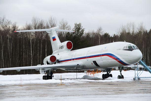 Mustaanmereen syöksynyt venäläiskone on Tu-154 -tyyppiä.