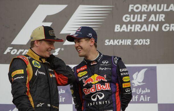 Kimi Räikkönen ja Sebastian Vettel ovat hyviä ystäviä.