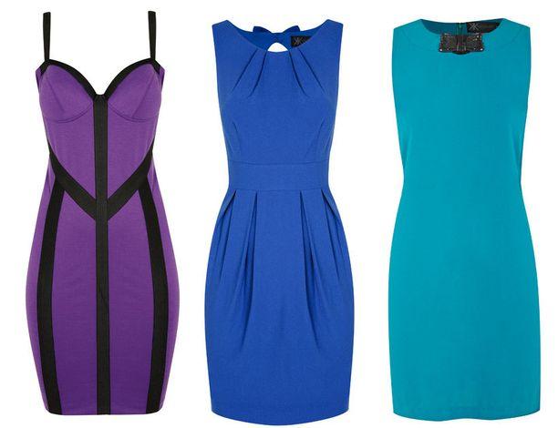 Nämä mekot edustavat malliston värikkäämpää puolta.