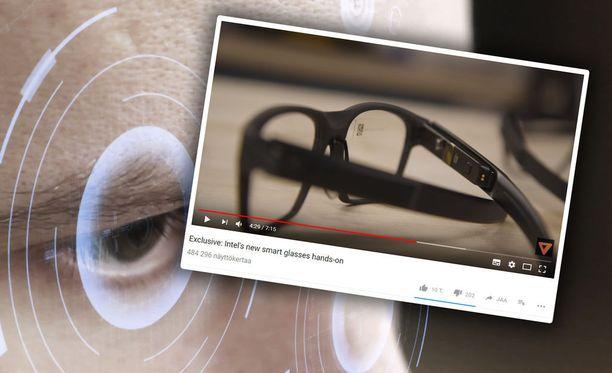 Intelin AR-lasit muistuttavat paljon tavallisia silmälaseja.