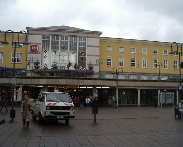 Ampumistapaus sattui Fuldassa. Kuvassa kaupungin rautatieasema.