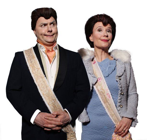 Äänimies-Anssi-sarjassa presidentin roolissa nähdään Antti Jaakkola ja presidentin rouvan roolissa Ella Pyhältö.