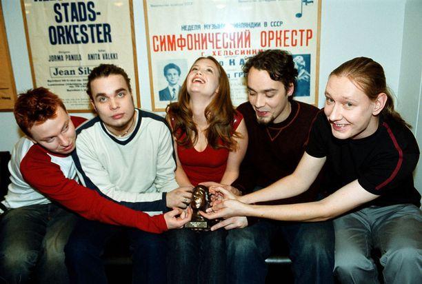 Kuvassa Kemopetrol-yhtye vuonna 2001.