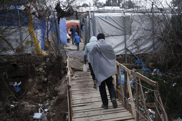 YK:n pakolaisjärjestön mukaan Morian pakolaisleirillä Lesboksen saarella on epäinhimilliset olot. Kuva tammikuulta 2020.