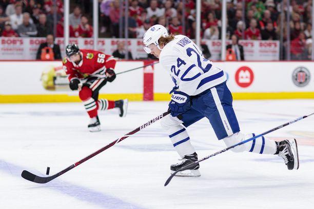 Tuulennopea Kasperi Kapanen mättää pisteitä Torontossa.
