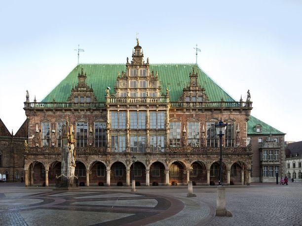 Bremenin raatihuone on Unescon maailmanperintölistalla.