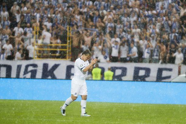 Petteri Forsell pelasi kesäkuussa Bosnia ja Hertsegovinaa vastaan Tampereella.