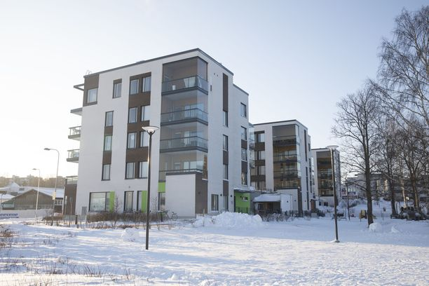Talvinen näkymä Helsingin Lauttasaaresta tammikuulta.