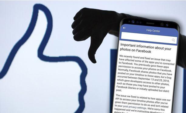 Facebook lähettää vuodon kohteeksi joutuneille viestin.