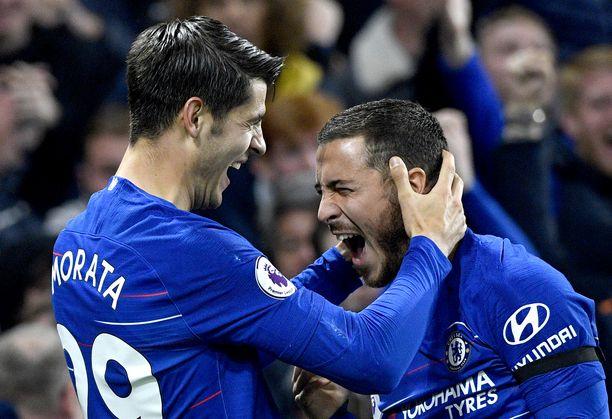 Alvaro Moratan ja Eden Hazardin Chelsea nappasi selvän voiton.