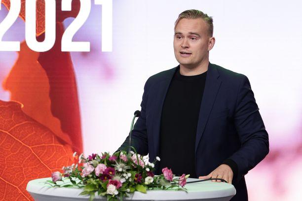 Atte Harjanne valittiin vihreiden varapuheenjohtajaksi 11. syyskuuta.