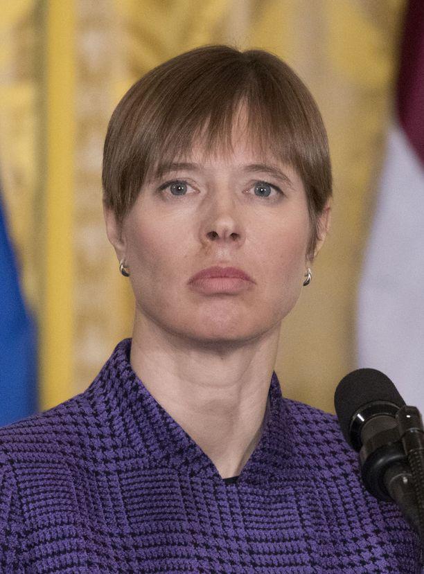 Presidentti Kersti Kaljulaid haluaa amerikkalaisia joukkoja Viroon.