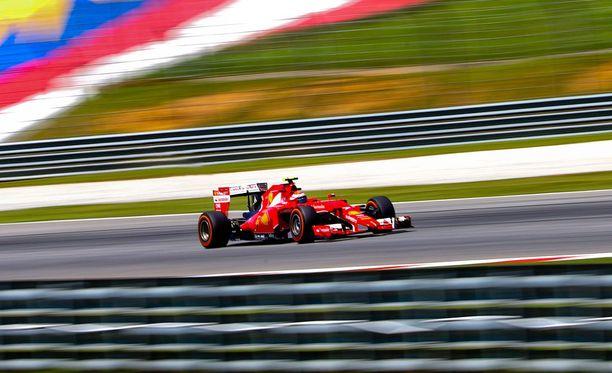 Kimi Räikkönen teki vain yhden yrityksen Malesian GP:n aika-ajon ensimmäisessä osassa.