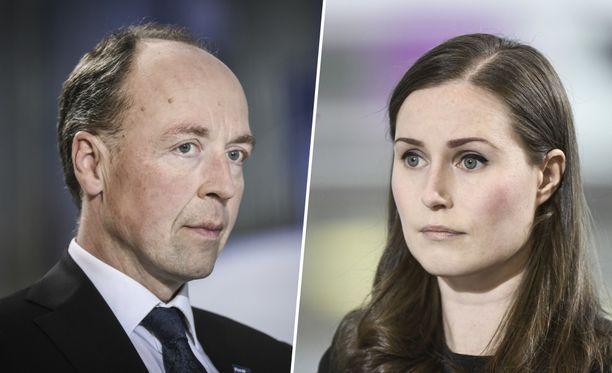 Jussi Halla-ahon perussuomalaiset siirtyvät gallupkärkeen, kun pääministeri Sanna Marinin SDP sukeltaa kolmanneksi.