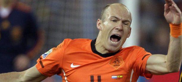 Arjen Robbenille ei maistunut avopaikka.