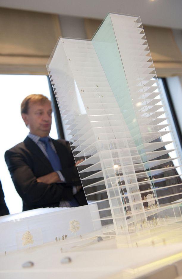 Hjallis Harkimo suunnittelee Helsinkiin 35-kerroksisista tornia.
