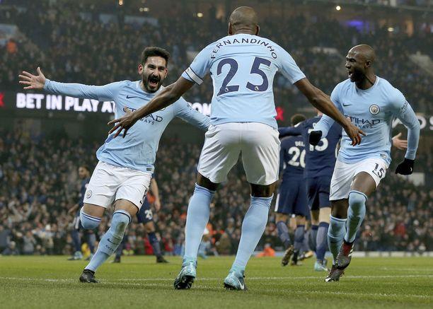 Pep Guardiolan Manchester City on 16 ottelun mittaisessa voittoputkessa.
