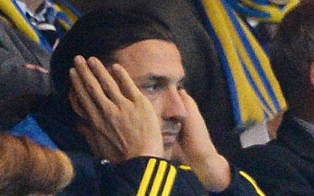 Zlatan seurasi Ruotsin ja Saksan välistä kohtaamista katsomosta.