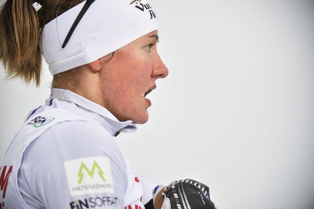 Katri Lylynperän SM-sprintti päättyi pettymykseen. Kuva aiemmin tältä kaudelta.